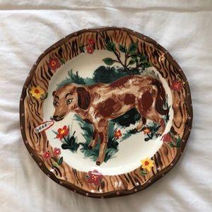 Nathalie Lete dog motif dinner plate